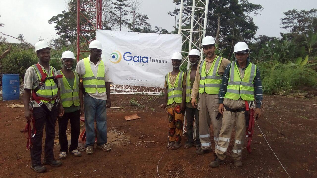 mast installation ghana 2
