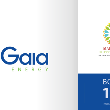 Gaia Energy's exhibition at COP22