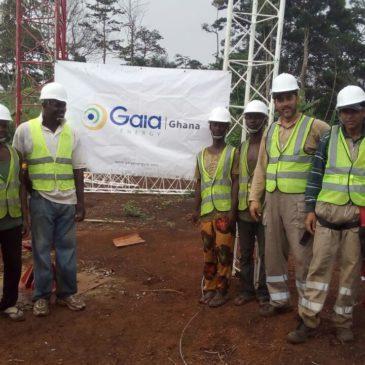Gaia – masts installation in Ghana