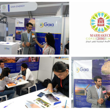Gaia Energy exhibited during two weeks at COP 22